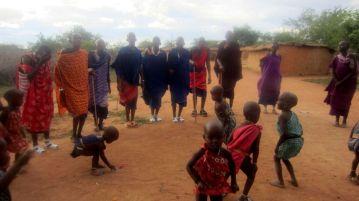 Maasai marriage dance.